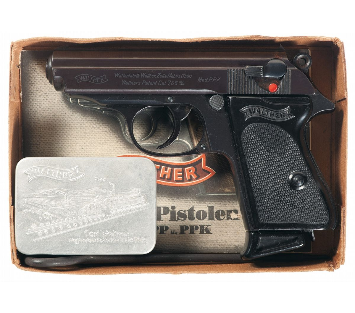 Exceptional Pre-War Walther PPK with PP Walther Box