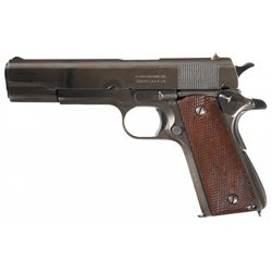 WWII U.S. Remington-Rand Model 1911A1 Semi-Automatic Pistol with Holster Rig