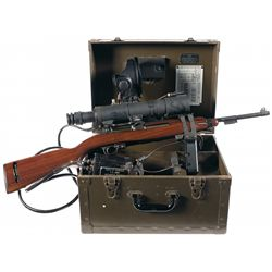 Desirable Late WWII Inland M1 Carbine with Complete M3 Infrared Sniper Scope, Power Pack, Battery, C