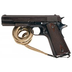 1913 Production U.S. Army Colt Model 1911 Semi-Automatic Pistol with Holster