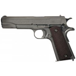 Late Production WWI Colt Model 1911 Pistol with Early 1912 Style Commercial Holster, Magazine Pouch,