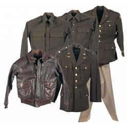 """WWII """"Booby Trap"""" Painted USAAF A-2 Flight Jacket and Uniforms"""