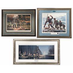 Three Beautifully Framed American Military Prints