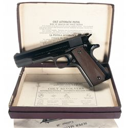 Excellent Early Post-War Colt Super Model 38 Semi-Automatic Pistol with Original Box and Holster