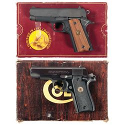 Two Boxed Colt Compact 1911 Style Semi-Automatic Pistols