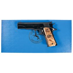 Limited Edition Cased Colt MK IV Series 80 Royal Gold Cup National Match Semi-Automatic Pistol with