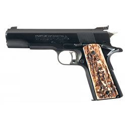 Cased Colt Mark IV Series 70 Gold Cup National Match Semi-Automatic Pistol with 22 Conversion Unit