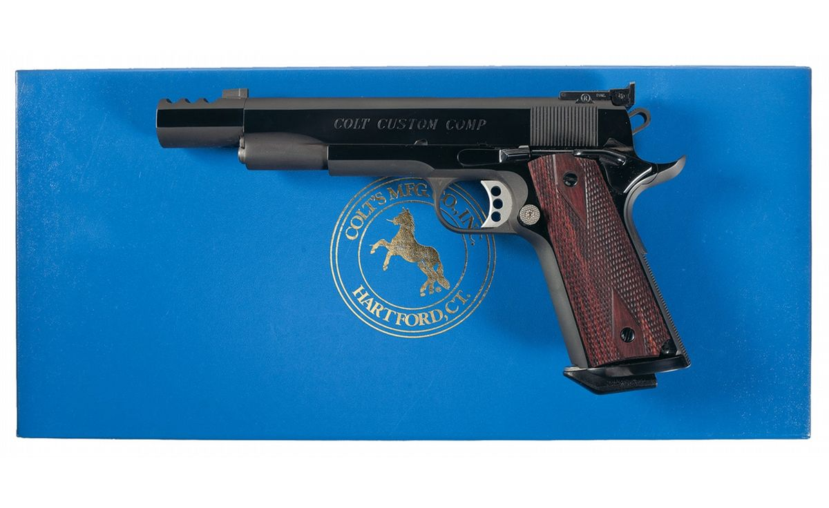 Colt Custom Compensated Government Model Semi-Automatic Pistol with Box