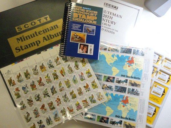 Unused pages still sealed Scott Minuteman stamp album
