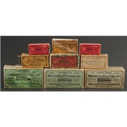 Collection of Antique Colt & Winchester Ammo Boxes