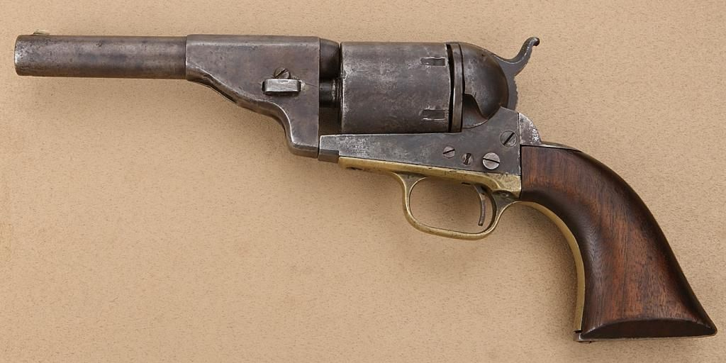 Colt Third Model Dragoon revolver, converted to cartridge
