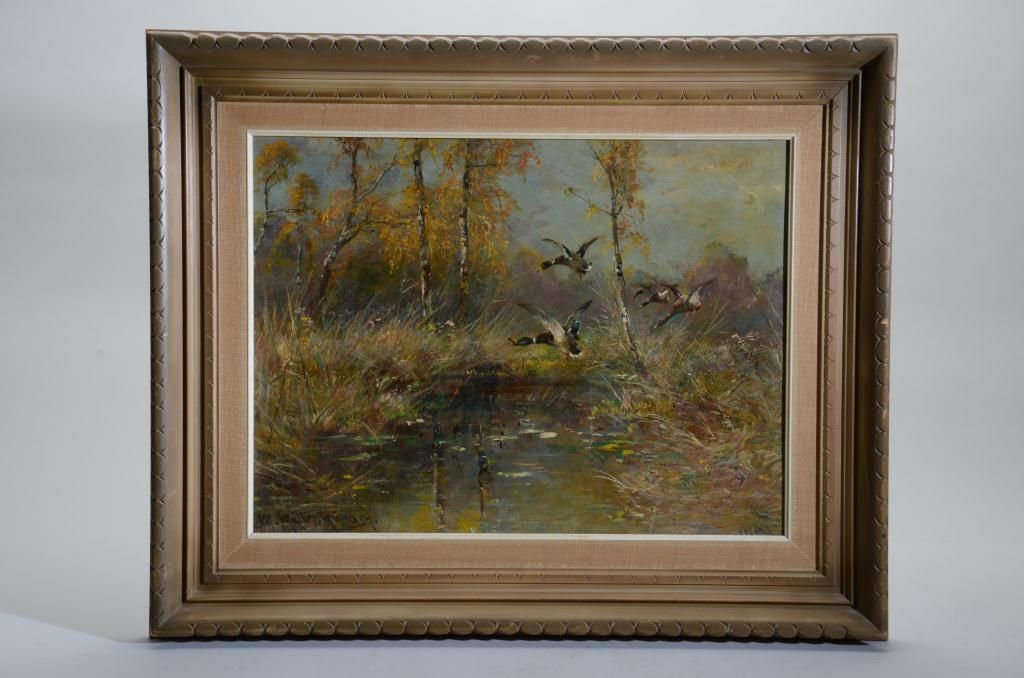 Original Oil Painting On Board Signed Lower Left M Muller Munchen Measures Approx 17 1 2 In