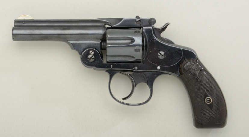 Scarce Marlin Model 1887 DA  38 cal  revolver, re-blued finish, hard