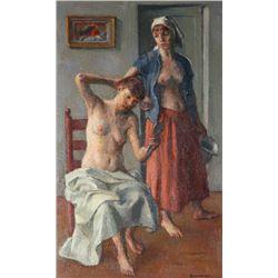 Robert Brackman, The Toilet, Oil Painting