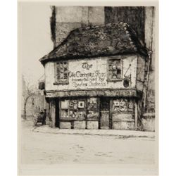 Dorothy Sweet, The Old Curiosity Shop, Etching
