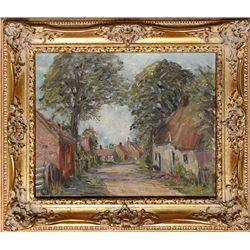Harold Bennett, Brigsley Village, Lincolnshire, Oil Painting
