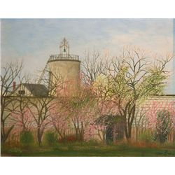 Jean Eve, Landscape with Farmhouse, Oil Painting