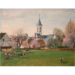 Jean Eve, Pasture, Oil Painting