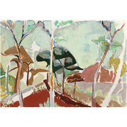 Huguette Baudrot, Landscape I, Watercolor