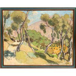 Yvette Alde, Landscape, Oil Painting