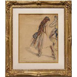 Edgar Degas, Ballerinas, Print of a Pastel Drawing