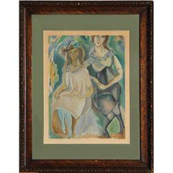 Jules Pascin, Deux Femme, Woodcut