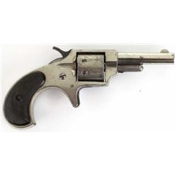 Remington Iroquois .22 cal. NVSN 7 shot revolver with 2 1/4  barrel, nickel finish and hard rubber g