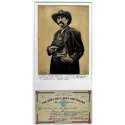 Original hand pulled etching by noted artist Bob Coronato depicting Deadwood Sheriff Seth Bullock, a