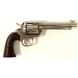"Colt Bisley .45 cal. SN 211978 single action revolver with 5 1/2"" barrel, nickel finish and Colt har"