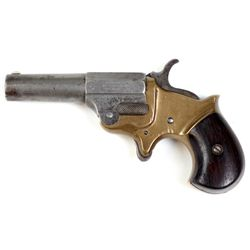 "Ballard .41 cal. single shot SN 164 spur trigger revolver, 2 3/4"" barrel, brass frame, rosewood bird"