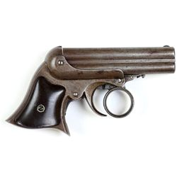 Remington Elliot .32 cal. SN 8198 4 shot Derringer originally blued finish with hard rubber grips. B