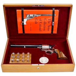 "Colt SAA .45 Colt cal. SN 1573SC 1964 Colt Sesquicentennial 1814-1964 with 7 1/2"" barrel, blued and"