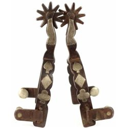Pair Buermann single mounted lady leg spus stamped and forged patd with star.