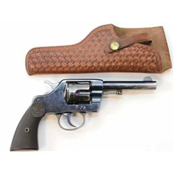 """Colt 1892 .41 cal. SN 135619 double action revolver, 4 1/2"""" barrel, blued finish with Colt hard rubb"""