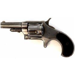 "Remington No. 4 .38 cal. SN 12550 5 shot spur trigger revolver with 2 1/2"" barrel, overall silver gr"