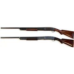 Collection of 2 shotguns includes 1) Remington Model 10A 12 ga. SN 103575 pump action takedown shotg