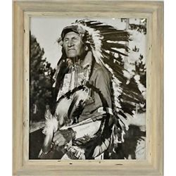 """Large Bill Groethe """"B. 1923 photo of High Eagle dated and signed in lower right corner 1948. From Ra"""
