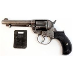 """Colt Lightning .38 cal. SN 115953 double action revolver 4 1/2"""" barrel, backstrap engraved """" Wells F"""