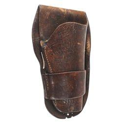 Pat Connolly Billings MT single loop holster for medium frame revolver, in business in Billings 1912