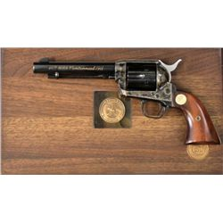 """Colt SA .357 Mag SN NRA5518 revolver with 5 1/2"""" barrel, 1871-1971 NRA Centenial with blued and case"""