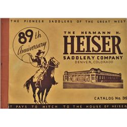 Heiser Saddlery Co. catalog #39 89th anniversary with 84 pages showing near fine condition.