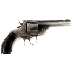 """Smith and Wesson .38 S&W SN 447130 revolver 4"""" barrel blued finish with S&W hard rubber grips. Revol"""