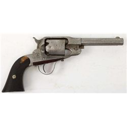 Remington percusssion pistol in relic condition with added sheetmetal trigger guard.