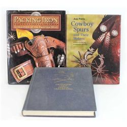 Collection of 3 books includes Paterson Colt Pistol Variation, Cowboy Spurs and Their Makers and Pac