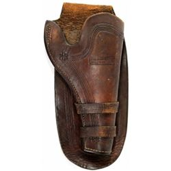 Al Furstnow Miles City MT stamped double loop holster showing very good to near fine condition, good