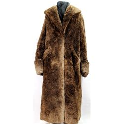 Fine Beckman Bros. sheared beaver long coat and hat. A classic early man's long coat in soft and sup