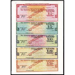 National Bank of Australasia, Limited Specimen Traveler's Checks.