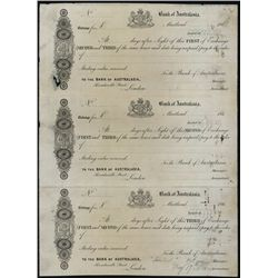 The Bank of Australasia Proof Exchange Sheet of 3.