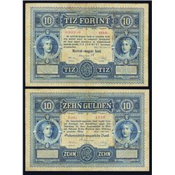Austro-Hungarian Bank, 1880 Issue Banknote.