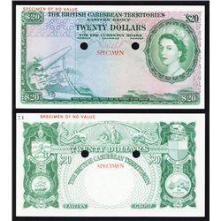 British Caribbean Territories, Eastern Group Color Trial Specimen Banknote.